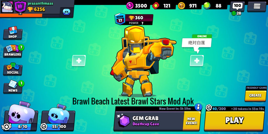 Download Brawl Beach Brawl Stars Mod Apk v 19.106 Latest 2019 Now!